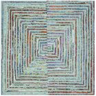 Tufted Cotton Area Rug Rug Size: Square 4'