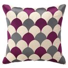 D.L. Rein Scales Linen Throw Pillow Color: Fuchsia