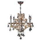 Zhora 6-Light Candle Style Chandelier Crystal Color: Amber