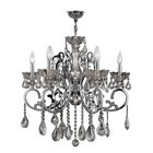 Koome 6-Light Candle Style Chandelier Crystal Color: Clear