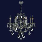 Zhora 8-Light Candle Style Chandelier Crystal Color: Black