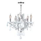 Zhora 5-Light Candle Style Chandelier Crystal Color: White