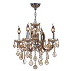 Roslyn Traditional 4-Light Candle Style Chandelier Crystal Color: Amber
