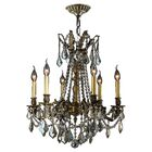 Radtke 6-Light Candle Style Chandelier Crystal Color: Golden Teak