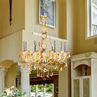 Doggett Traditional 8-Light Candle Style Chandelier Crystal Color: Amber
