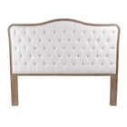 Bardot Upholstered Panel Headboard Size: Queen, Color: Brown, Upholstery: Ivory