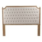 Lafontaine Upholstered Panel Headboard Color: Natural, Upholstery: Beige, Size: Queen