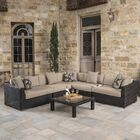 Monroeville 6 piece Sunbrella Sectional Set with Cushions Fabric: Heather Beige