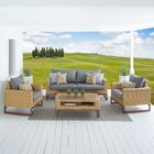 Addison 4 Piece Sunbrella Sofa Set with Cushions Fabric: Charcoal Gray