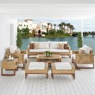 Addison 8 Piece Sunbrella Sofa Set with Cushions Fabric: Moroccan Cream