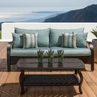 Cumberland 2 Piece Sunbrella Sectional Set with Cushions Cushion Color: Bliss Blue