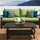 Cumberland 2 Piece Sunbrella Sectional Set with Cushions Cushion Color: Ginkgo Green