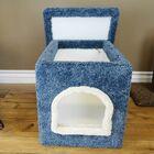 Premier Litter Box Enclosure Color: Blue, Size: 16'' H x 16'' W x 24'' D