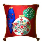 Colorful Ornaments Silk Throw Pillow