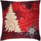 Holiday Elegance Winterscape Silk Throw Pillow