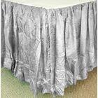 Balloon Bed Skirt Color: Gray, Size: Queen XL
