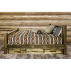 Katlyn Wood Storage Platform Bed Size: Full, Color: Clear Lacquer