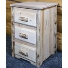 Abordale 3 Drawer Nightstand Color: Clear Lacquer