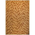 Hand-Tufted Beige and Brown Area Rug Rug Size: Rectangle 6' x 9'