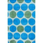 Hand-Tufted Light Green/Teal Area Rug