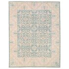 Vegetable Dye Hand-Knotted Teal Area Rug