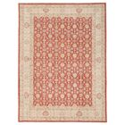 Vegetable Dye Hand-Knotted Red Area Rug