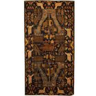 Prentice Hand-Knotted Navy/Ivory Area Rug