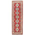 Kazak Hand-Knotted Red/Ivory Area Rug