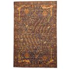 Prentice Hand-Knotted Navy/Olive Area Rug