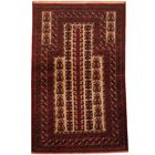 Prentice Hand-Knotted Ivory/Red Area Rug