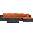 Keiran 5 Piece Sunbrella Sectional Set with Cushions Fabric: Tuscan