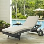 Tripp Chaise Lounge with Cushion Fabric: Antique Beige