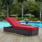 Ryele Contemporary Chaise Lounge with Cushion Fabric: Red
