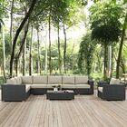 Tripp 7 Piece Patio Sunbrella Sectional Set with Cushions Fabric: Beige