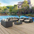 Tripp 9 Piece Sunbrella Sofa Set with Cushions Fabric: Beige