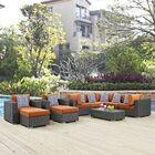Tripp 10 Piece Sunbrella Sectional Set with Cushions Fabric: Tuscan