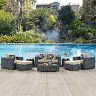 Keiran 8 Piece Sunbrella Sofa Set with Cushions Fabric: Beige