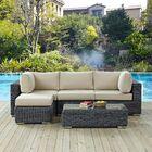 Keiran 5 Piece Sunbrella Sofa Set with Cushions Fabric: Antique Beige