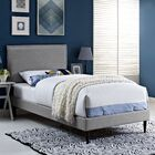 Sardina Upholstered Platform Bed Color: Gray, Size: Full