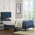 Sardina Upholstered Platform Bed Size: Twin, Color: Azure