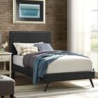 Preiss Upholstered Platform Bed Color: Black, Size: Twin
