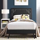 Kerley Twin Upholstered Platform Bed Color: Black