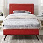 Eyre Upholstered Platform Bed Size: Twin, Color: Laguna
