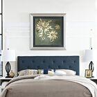 Ziemer Upholstered Panel Headboard Upholstery: Azure, Size: King