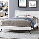 Kerley Upholstered Platform Bed Color: White, Size: King