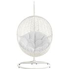 Hide Swing Chair with Stand Color: White