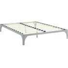 Ollie Bed Frame Size: Queen, Color: Gray