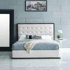 Madeline Queen Bed Frame Color: White