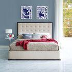 Madeline Queen Platform Bed Color: Ivory