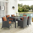 Tripp 7 Piece Dinning Set with Cushions Cushion Color: Tuscan